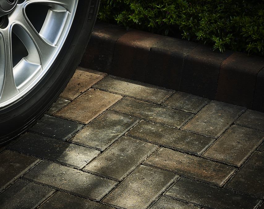 Image of Range Rover wheel on driveway