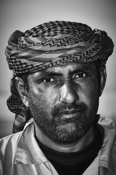 Portrait of Dubai Camel worker