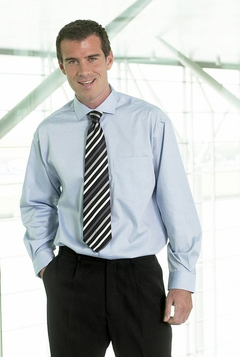 Male model wearing office clothes in contemporay office