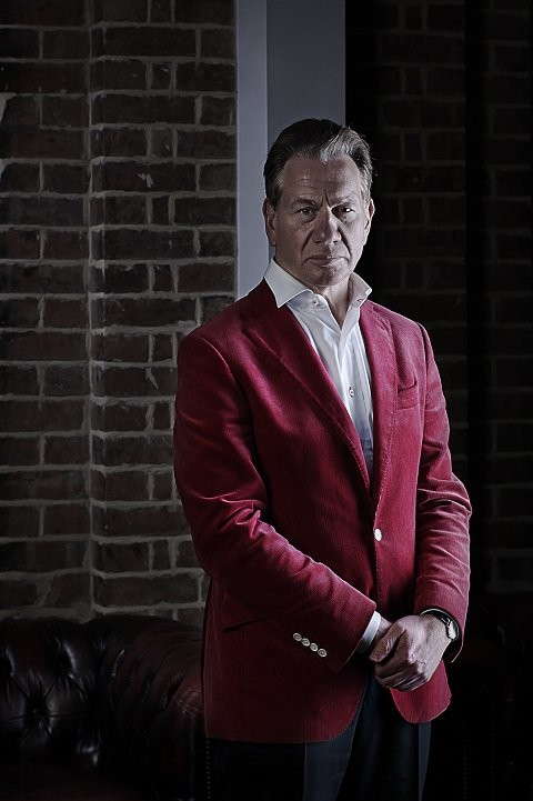 Portrait of former defence secretary and tv presenter Michael Portillo