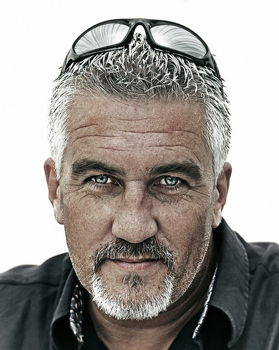 Portrait of celebrity cook Paul Hollywood with sunglasses